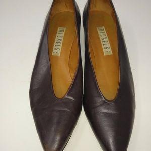 Nickels brown leather pumps